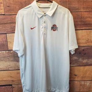 Men's Ohio State Polo Shirt OSU NIKE Tee Size XL